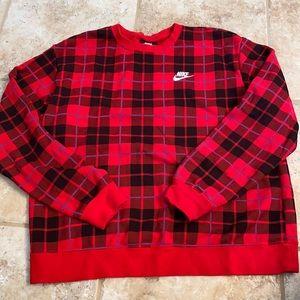 Nike Plaid Crewneck Sweatshirt